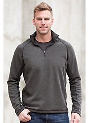 Henry Italian Wool and Cotton Blend 1/4 Zip Pullover