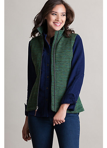 Aurora Space-Dyed Italian Wool-Blend Fleece Vest