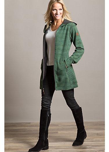 Aurora Hooded Italian Wool-Blend Fleece Jacket
