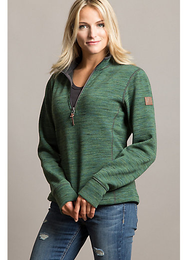 Aurora Space-Dyed Italian Wool-Blend Fleece Pullover