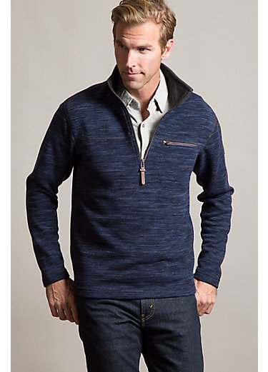 Boreas Space-Dyed Wool-Blend Fleece Pullover