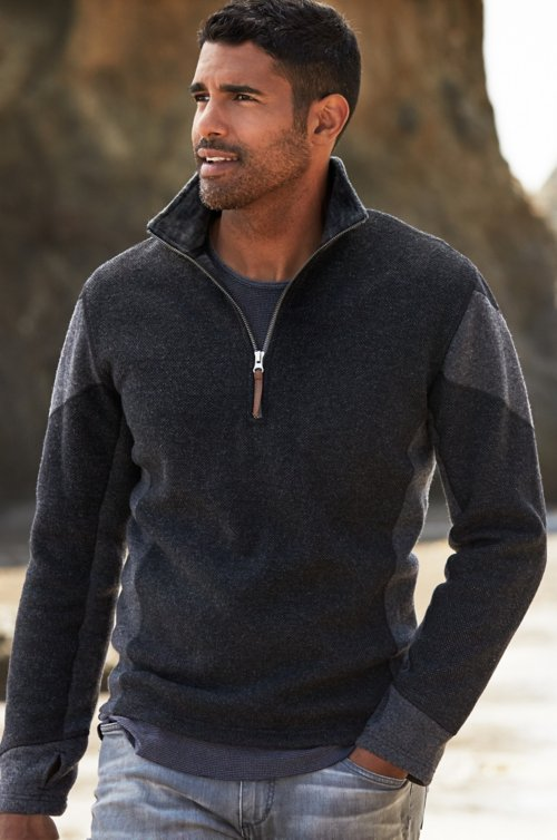 Amerigo Italian Wool-Blend Fleece Pullover Sweater