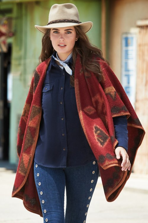 Mariana Leather-Trimmed Alpaca Wool-Blend Blanket Cape