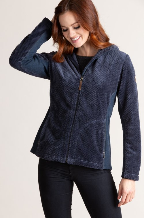 Bora Hooded Italian Fleece Jacket