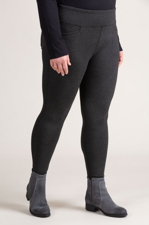 4-Pocket Stretch Ponte Leggings (Plus 18-24)