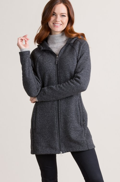 Celestial Hooded Italian Wool-Blend Jacket