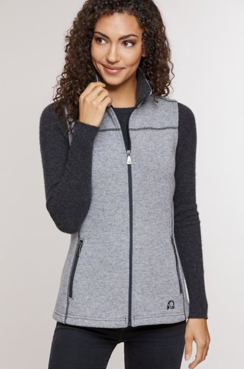 Eva Italian Wool-Blend Fleece Vest