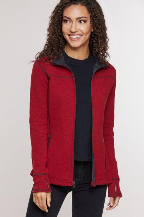 Eva Italian Wool-Blend Fleece Jacket