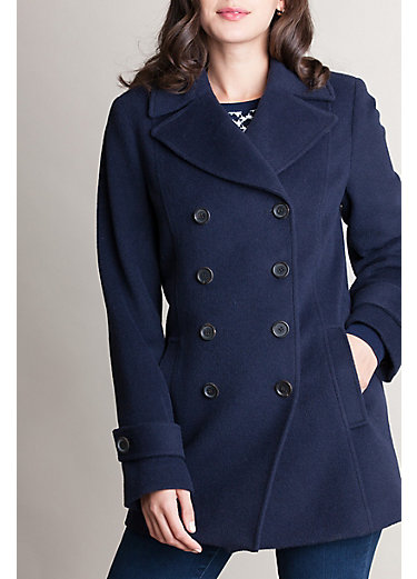 Kate Alpaca Wool-Blend Pea Coat