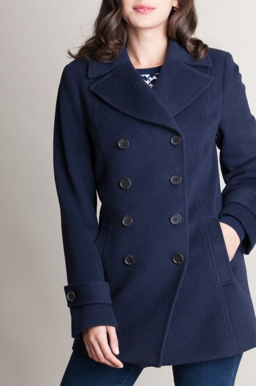 Kate Alpaca Wool-Blend Pea Coat