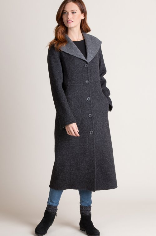 Frances Reversible Alpaca Wool-Blend Coat