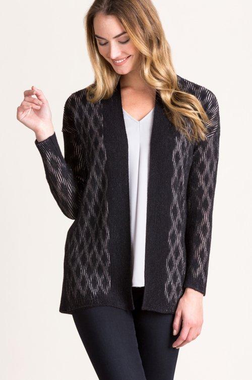 Corinne Textured Alpaca Wool-Blend Cardigan Sweater