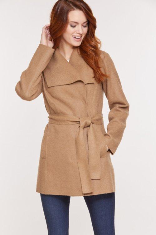 Breanne Belted Alpaca Wool Coat