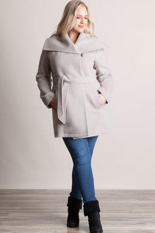 Bianca Peruvian Alpaca Wool-Blend Coat - Plus (18-24)