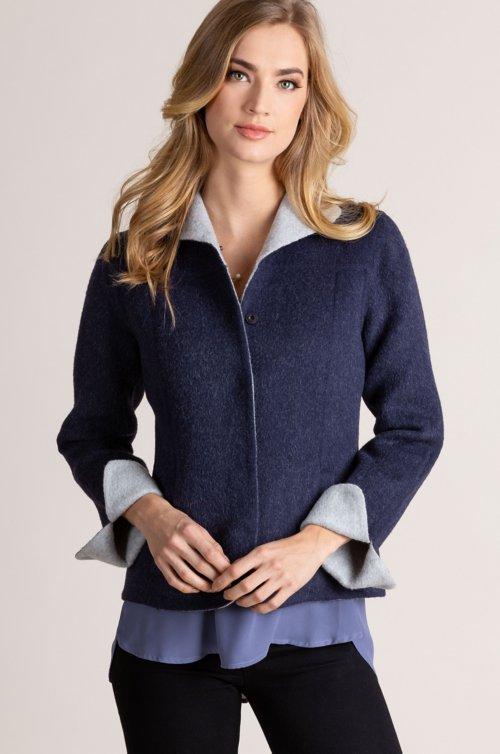 Cordilla Alpaca Wool-Blend Short Coat