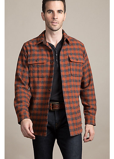 Clark Check Italian Wool-Blend Shirt Jacket