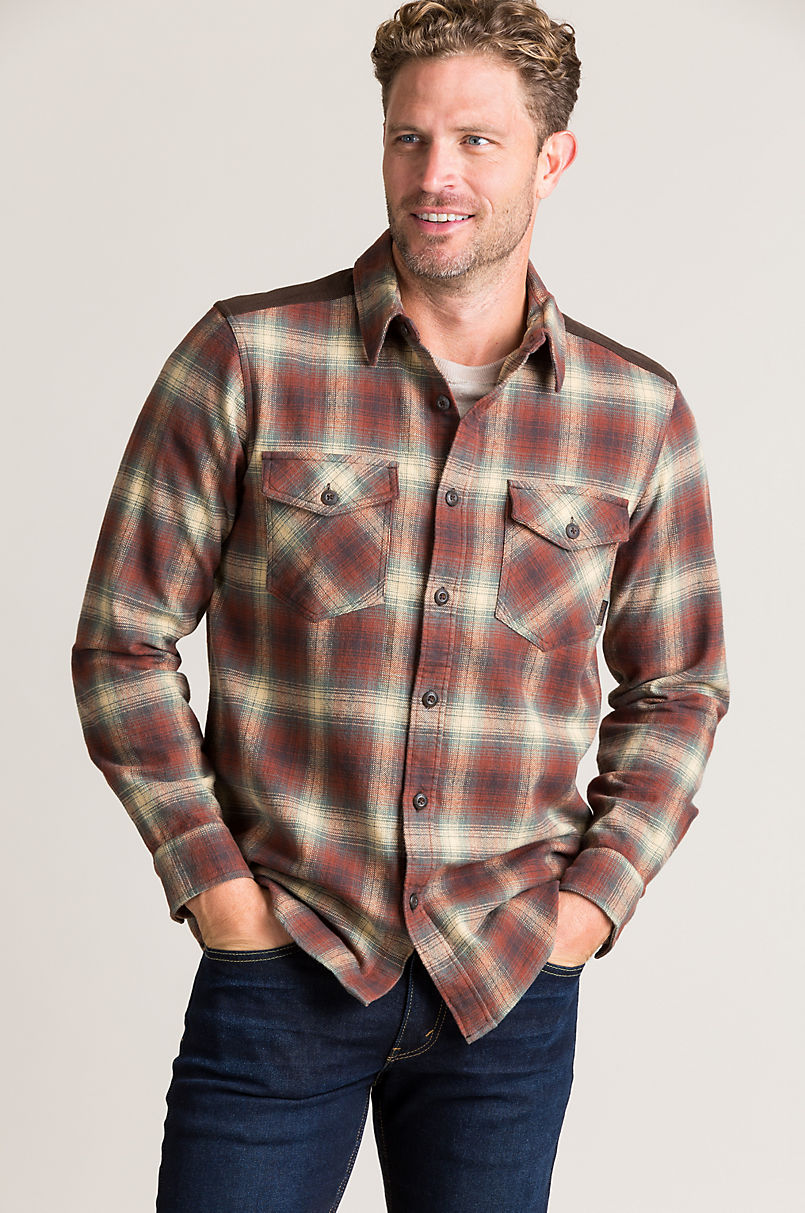 Overland Alden Plaid Cotton Flannel Shirt Jacket