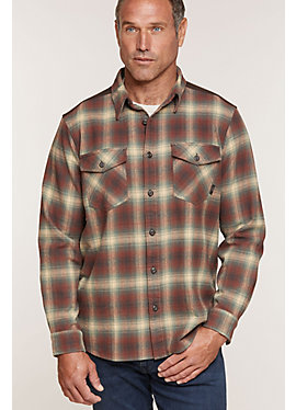 Alden Plaid Cotton Flannel Shirt Jacket