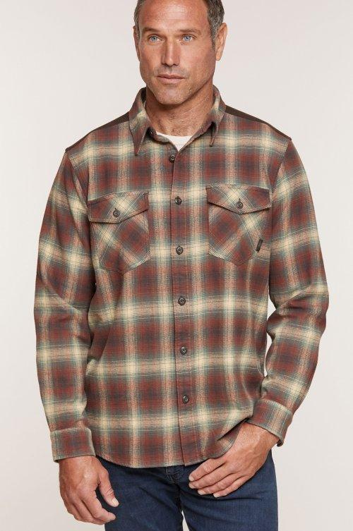 Alden Plaid Cotton Flannel Shirt Jacket