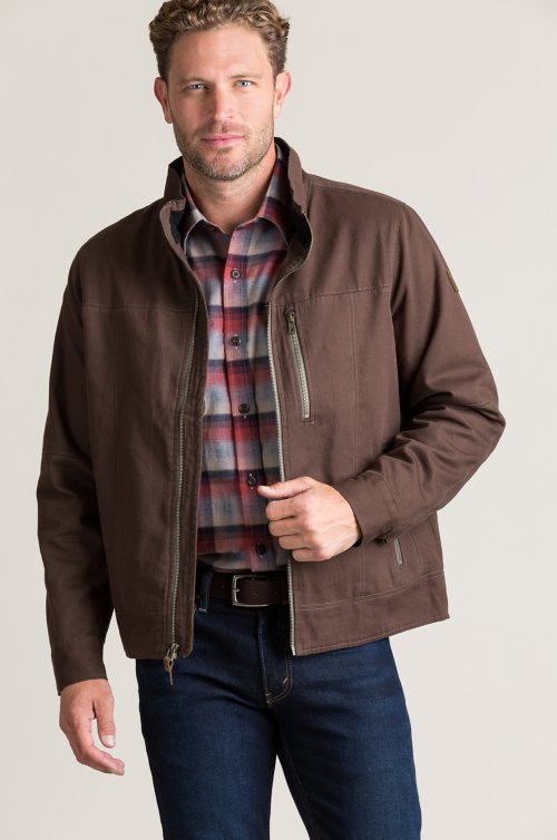 Cruz Fleece-Lined Cord Cotton Jacket