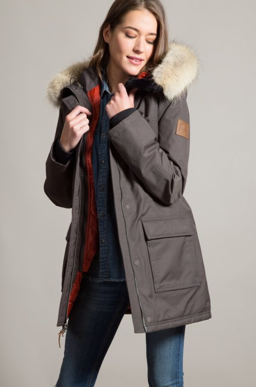 Cascades Waterproof Insulated Parka with Coyote Fur Trim