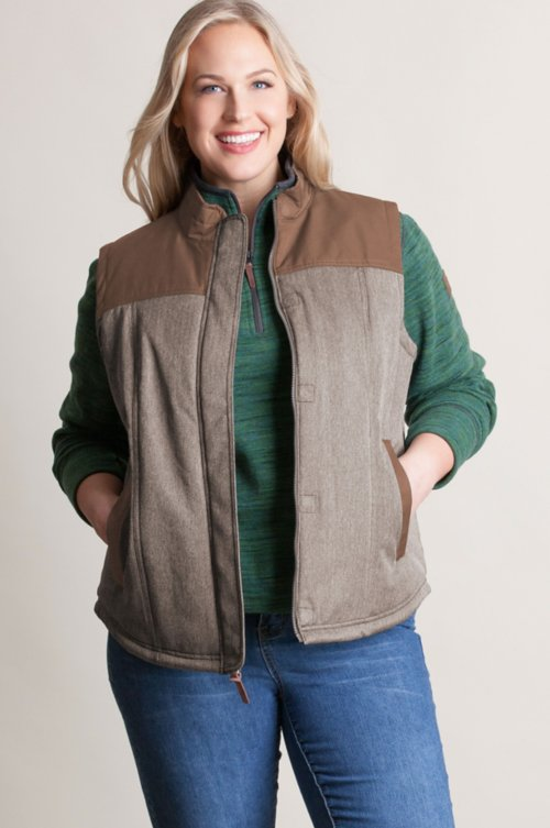 Albion Herringbone Insulated Vest - Plus (18-24)