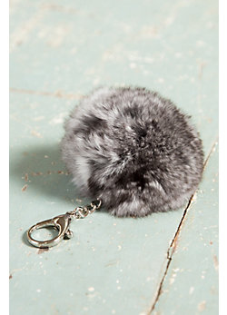Chinchilla Fur Pom Keychain