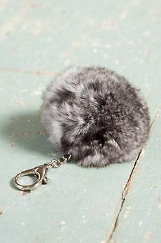 Chinchilla Fur Pom Keychain