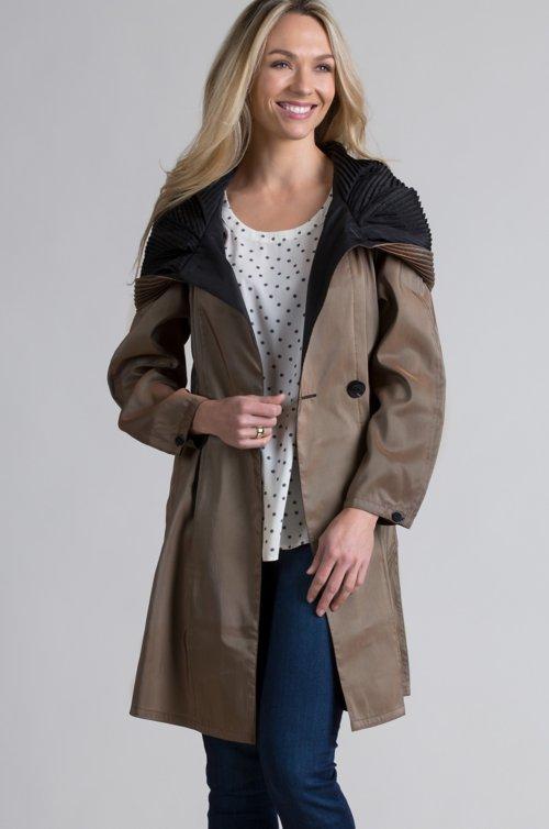 Donatella Reversible Raincoat