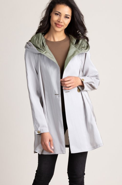 3aa7e91a3b8 Donna Mini Reversible Hooded Packable Raincoat Jacket