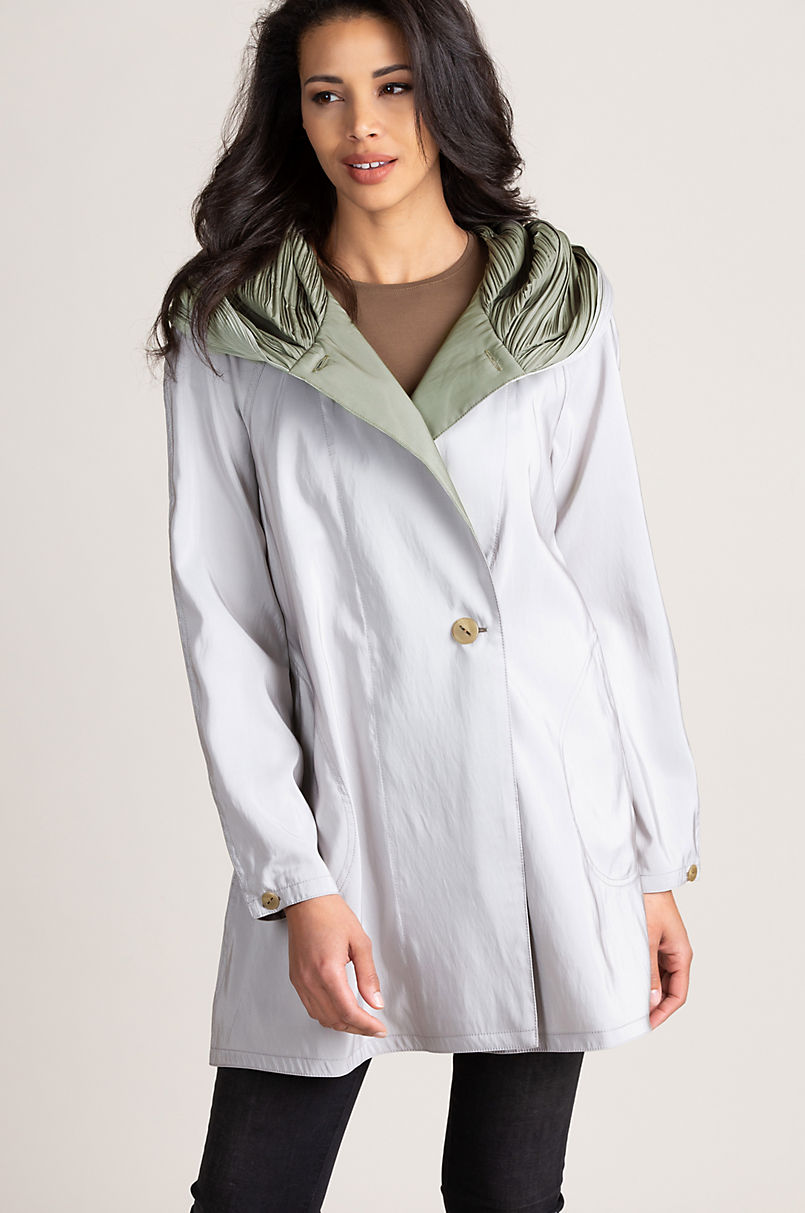 Donna Mini Reversible Hooded Packable Raincoat
