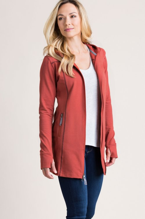 Porto Hooded Peached Cotton Tunic Jacket