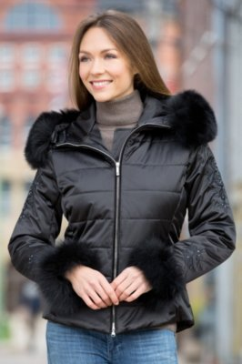 M. Miller Kora Jacket with Fox Fur Trim
