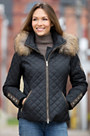 M. Miller Katya Ski Jacket with Raccoon Fur Trim