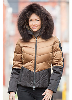 M. Miller Leah Jacket with Raccoon Fur Trim