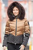 M. Miller Leah Down Jacket with Raccoon Fur Trim