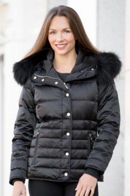 M. Miller Inga Down Jacket with Raccoon Fur Trim
