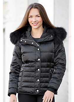 M. Miller Inga Down Jacket with Raccoon Fur Trim