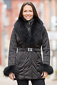 M. Miller Ana Coat with Raccoon Fur Trim