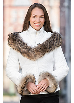 M. Miller Livia Jacket with Raccoon Fur Trim