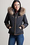 M. Miller Kristene Ski Jacket with Raccoon Fur Trim