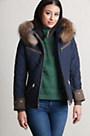 M. Miller Kristene Ski Jacket with Raccoon Fur Trim