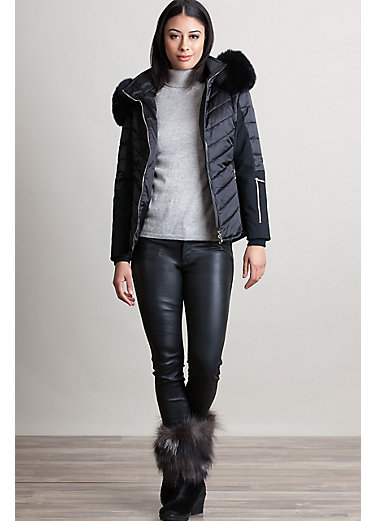 M. Miller Randi Ski Jacket with Fox Fur Trim
