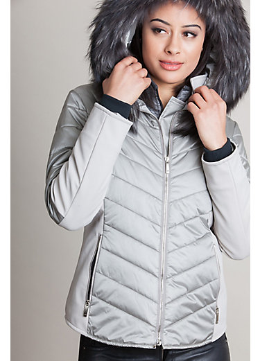 M. Miller Randi Ski Jacket with Raccoon Fur Trim
