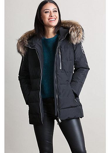 M. Miller Sasha Down Anorak Jacket with Finn Raccoon Fur Trim
