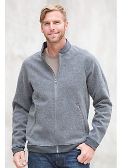 Ibex Hunters Point Merino Wool Fleece Bomber Jacket