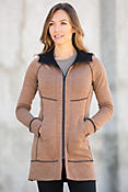 Ibex Dyad Hooded Reversible Merino Wool Sweater Jacket