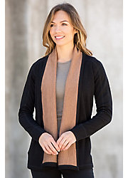 Ibex Dyad Reversible Merino Wool Open Sweater