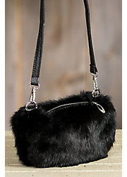 Rabbit Fur Muff Crossbody Purse