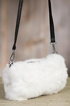 Rabbit Fur Muff Crossbody Purse